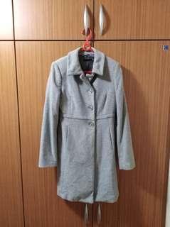 全新 *SISLEY灰色長大衣外套