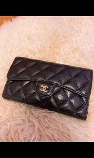 Chanel wallet in carviar