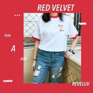 Red Velvet Peek-a-boo Shirt