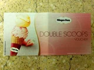 Haagen Dazs 雙球 哈根達斯 雪榚 Ice Cream 甜品 Dessert double Scoop 現金券 Voucher Coupon 小食