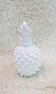 white pineapple coin bank