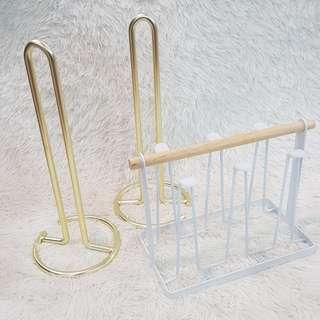 instock gold paper towel stand