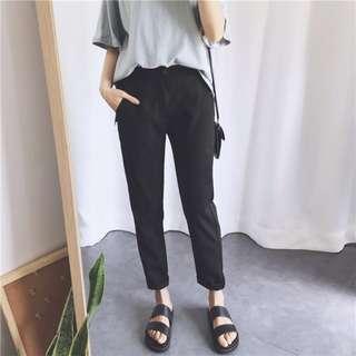 全新黑色西裝褲 九分