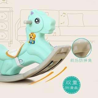 2 in 1 Blue Rocking Horse with Music
