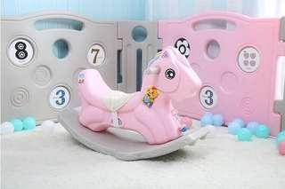 2 in 1 Pink Rocking Horse with Music