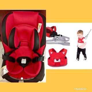 COMBI COCCORO EG-RED ROOSTER CAR SEAT &  TODDLEPAK SAFETY REIN
