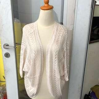 Cardigan white knit