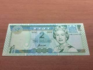 Fiji Banknotes $2