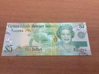 Cayman Island Banknotes 2Dollars