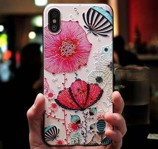 Floral case for iPhone X