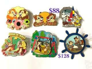 Disney Pin 迪士尼徽章 襟章 Chip n Dale (價格請參考內容)