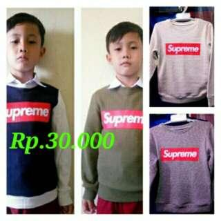 Sweater anak supreme