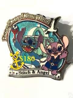 Disney Pin 迪士尼徽章襟章 Stitch Angel  史迪仔