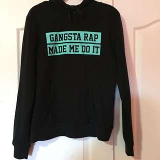 «Gangsta rap made me do it» hoodie