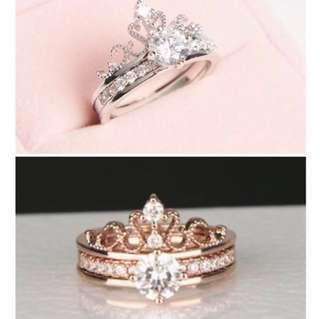 🚚 [REOPENED] Princess Tiara 2 in 1 double ring