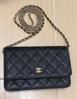 Chanel Caviar Wallet on Chain (WOC)