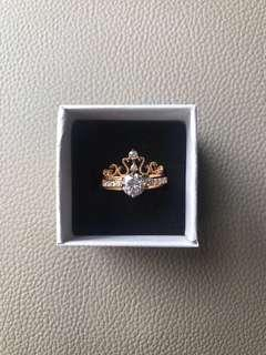 🚚 [INSTOCK] Princess double ring (Rose Gold)