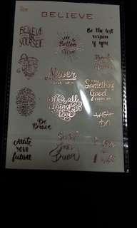 玫瑰金和紙貼紙🗻包郵      96.5*134mm