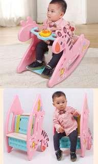 2 in 1 Rocking Horse Convertible to Chair with Music