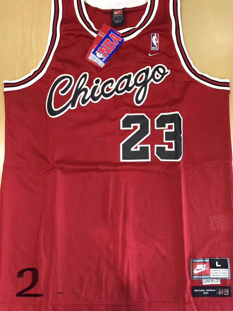 newest 232d2 02f2f #23 (Red) Chicago Bulls Michael Jordan Flight 8403 Jersey Nike Rookie Size  L+2 Brand New Never Worn