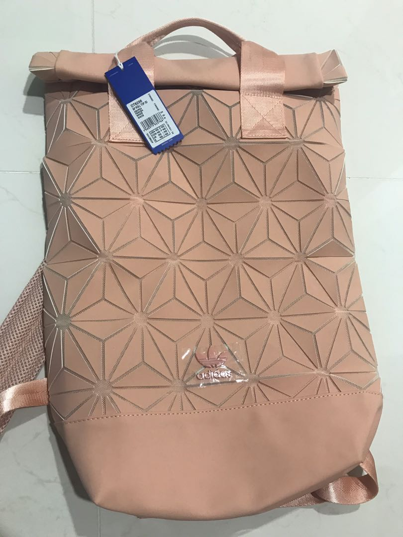 8ba5410edd20 Adidas Roll Top Backpack in ash pearl
