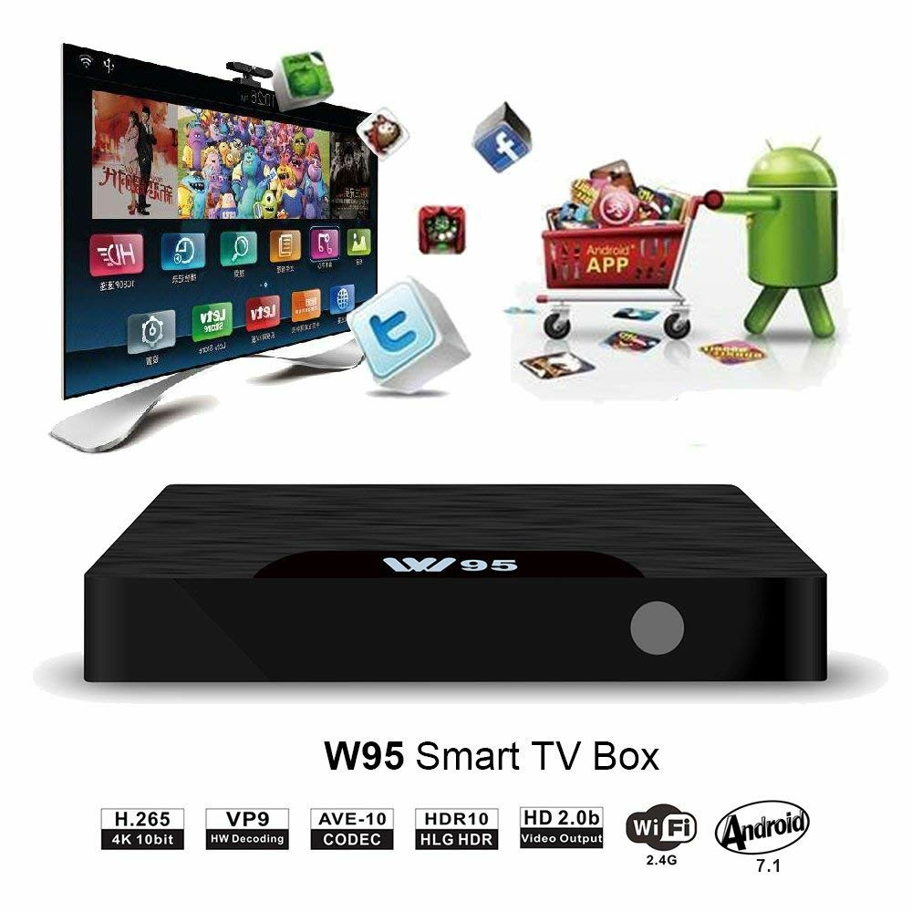 Android TV Box - VIDEN W2 Newest Android 7 1 Smart TV Boxsets, Amlogic  S905W Quad-Core, 2GB RAM & 16GB ROM, 4K Ultra HD, Support Video Encoder for
