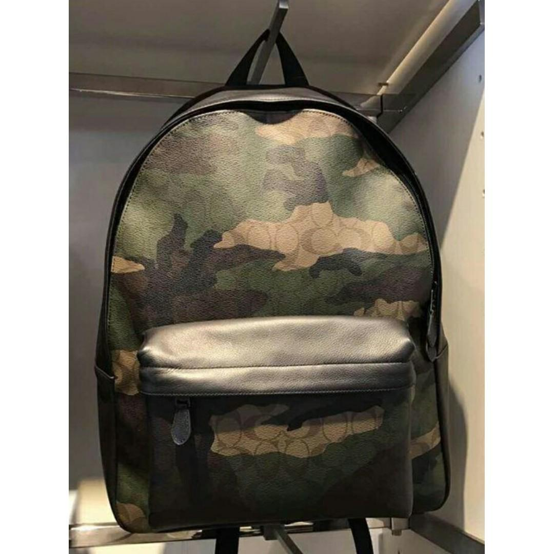 bf4f0b7cb 4 Photos. Authentic Coach Charles Animated Signature Camo Print Backpack ...
