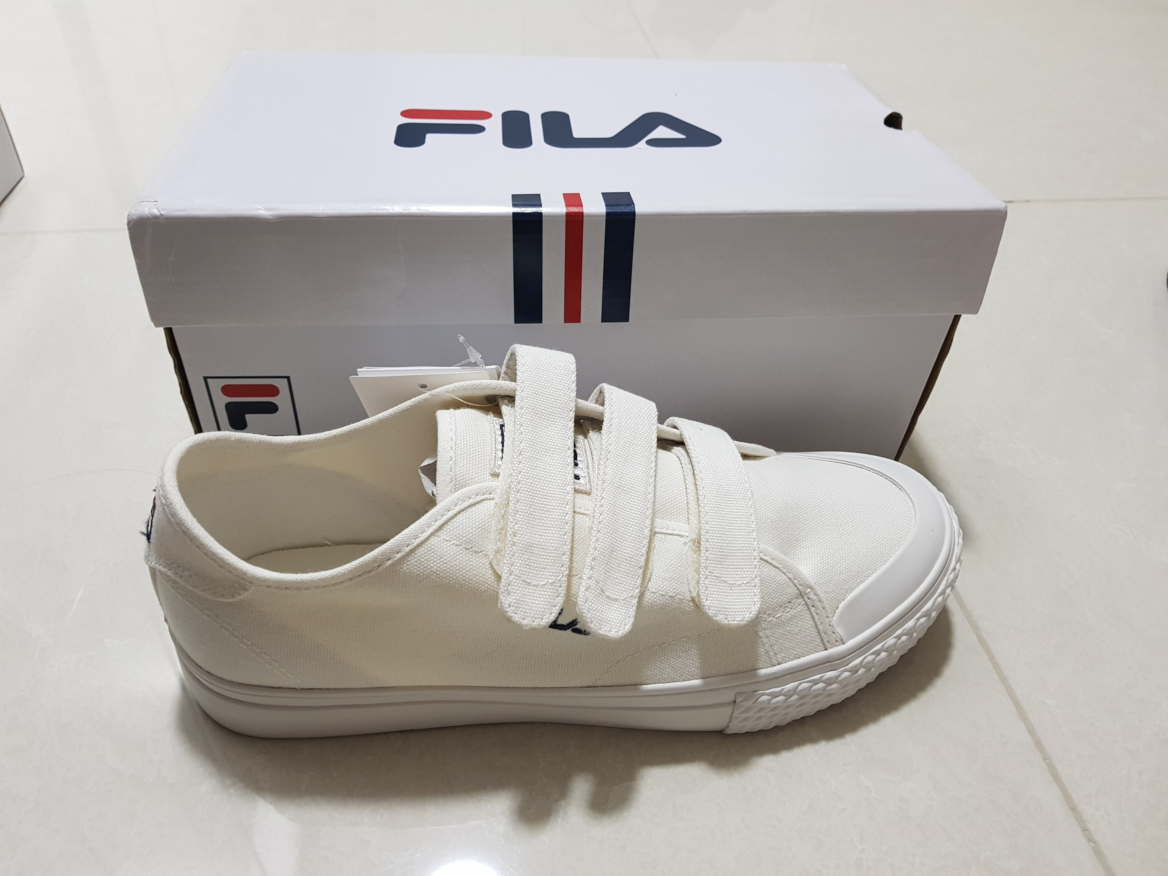 0350e266af Authentic fila kicks velcro off white womens fashion shoes sneakers on  carousell jpg 4032x3024 Fila kicks