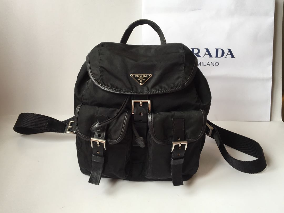 4ef58c05640b6f Authentic Prada Vela Nylon Backpack, Women's Fashion, Bags & Wallets ...