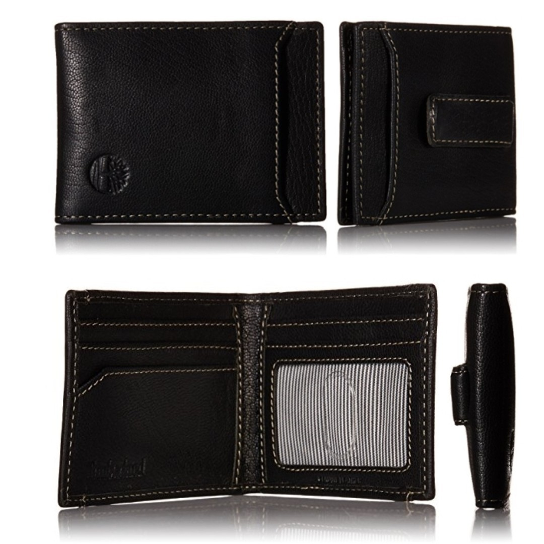 19914823f851 AUTHENTIC Timberland Men's Leather wallet bifold money clip card ...
