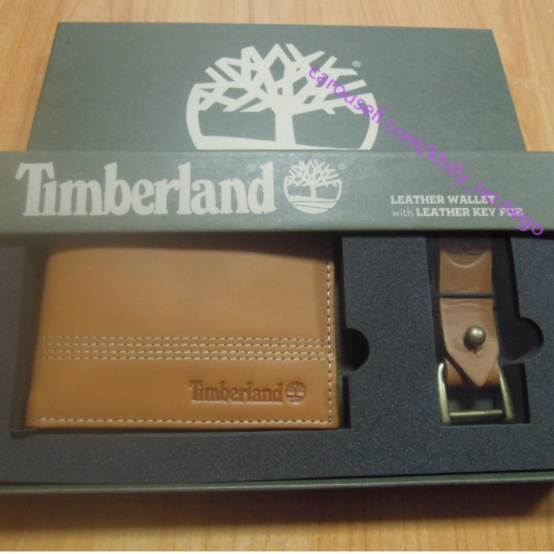 2247191d03c9 AUTHENTIC Timberland Men s Leather wallet bifold with key fob chain ...