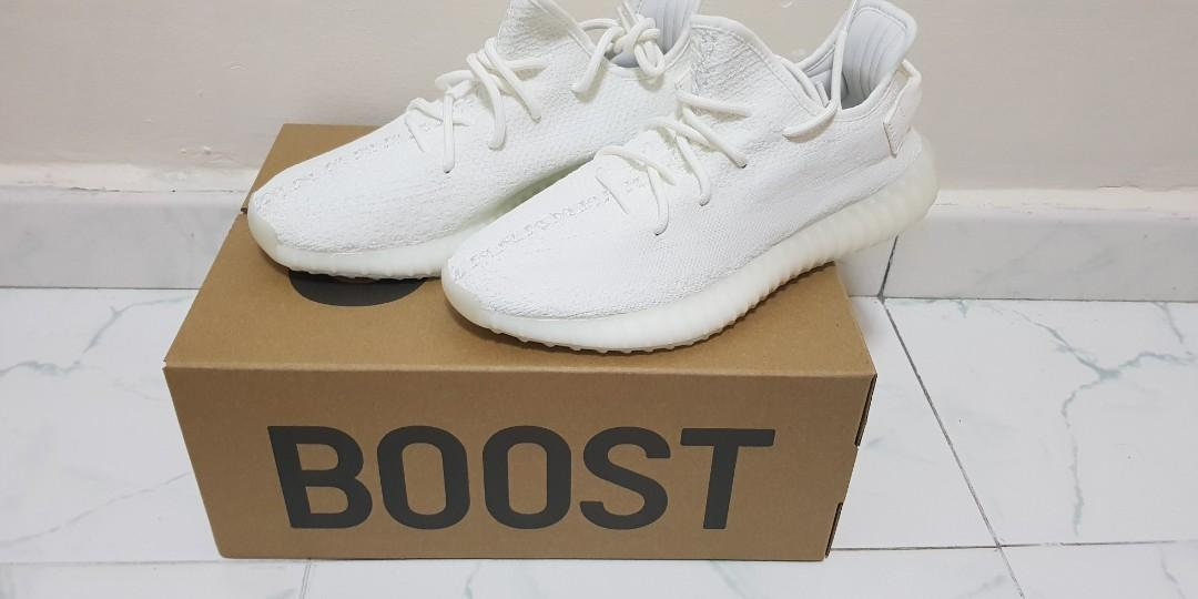 sports shoes e1601 4a0ea BNDS Adidas Yeezy Boost 350 V2 Pure White, Men's Fashion ...