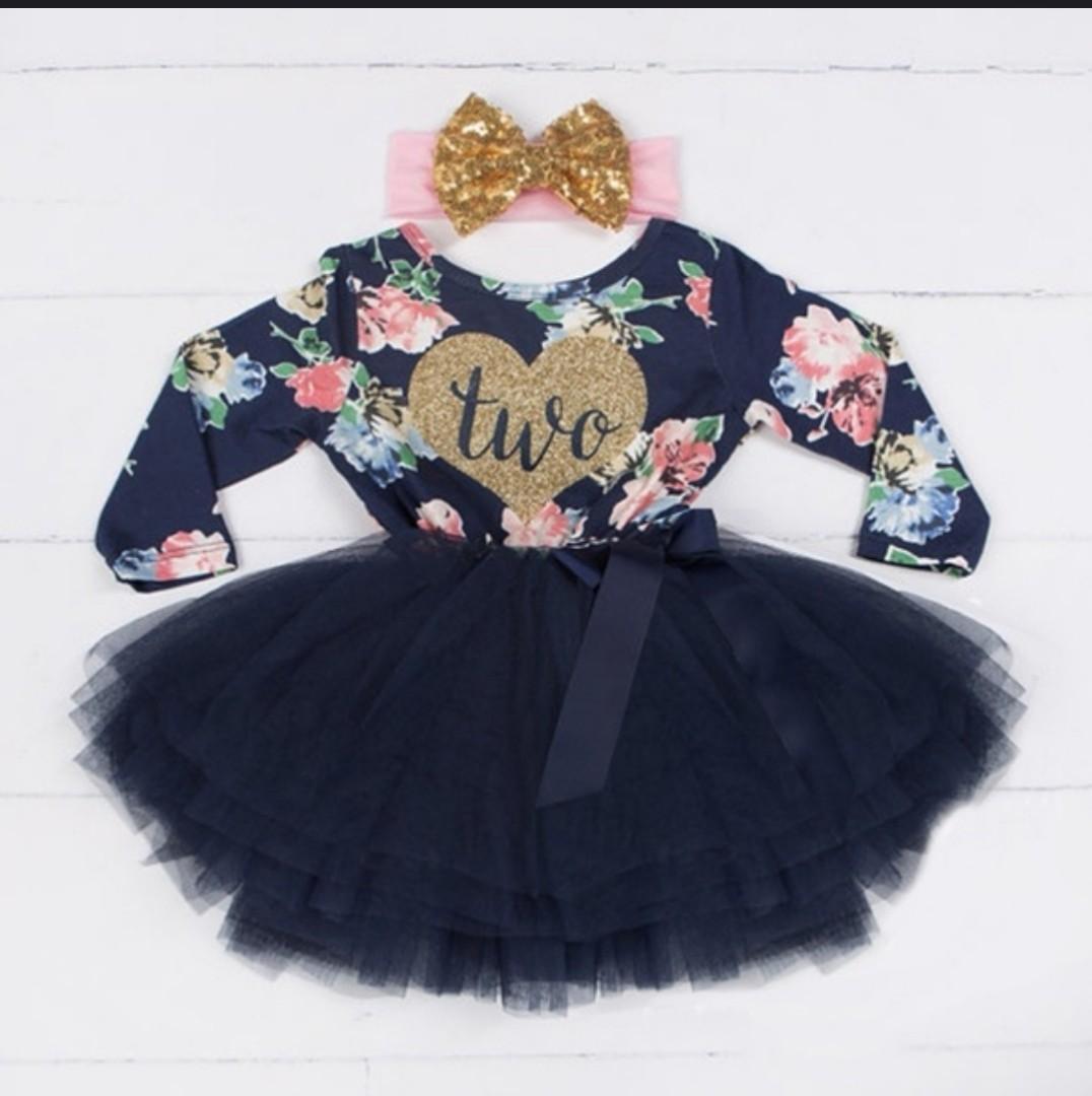 Brand New Kids Fashion Birthday Girl Dress 1 2 3 4 $45