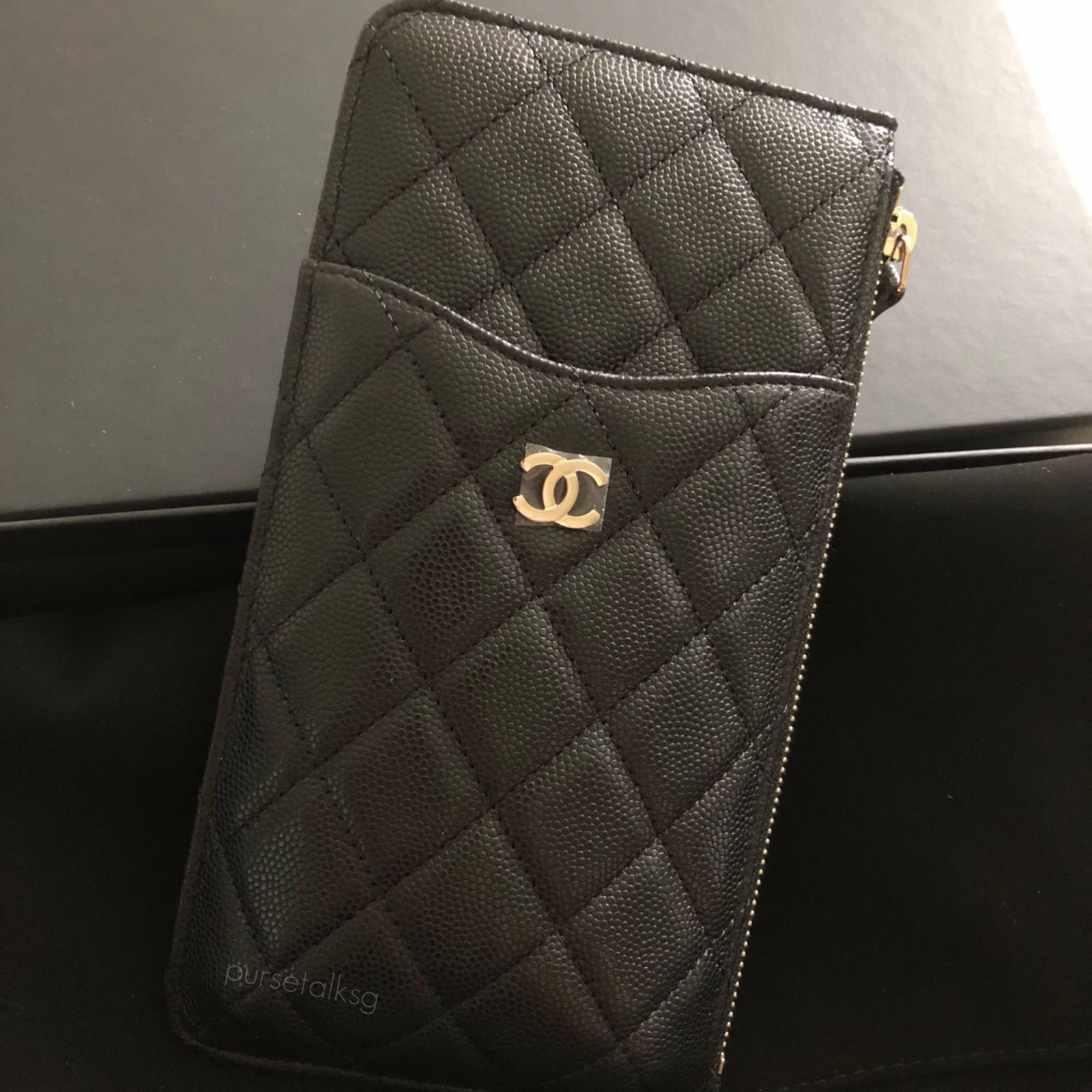 85d4777aae86 Chanel 18b Black Phone Pouch Ghw Luxury Bags Wallets On