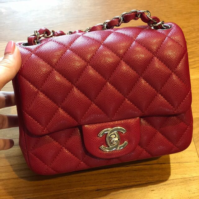 669a97f4f09e Chanel square mini 18B, Luxury, Bags & Wallets, Handbags on Carousell
