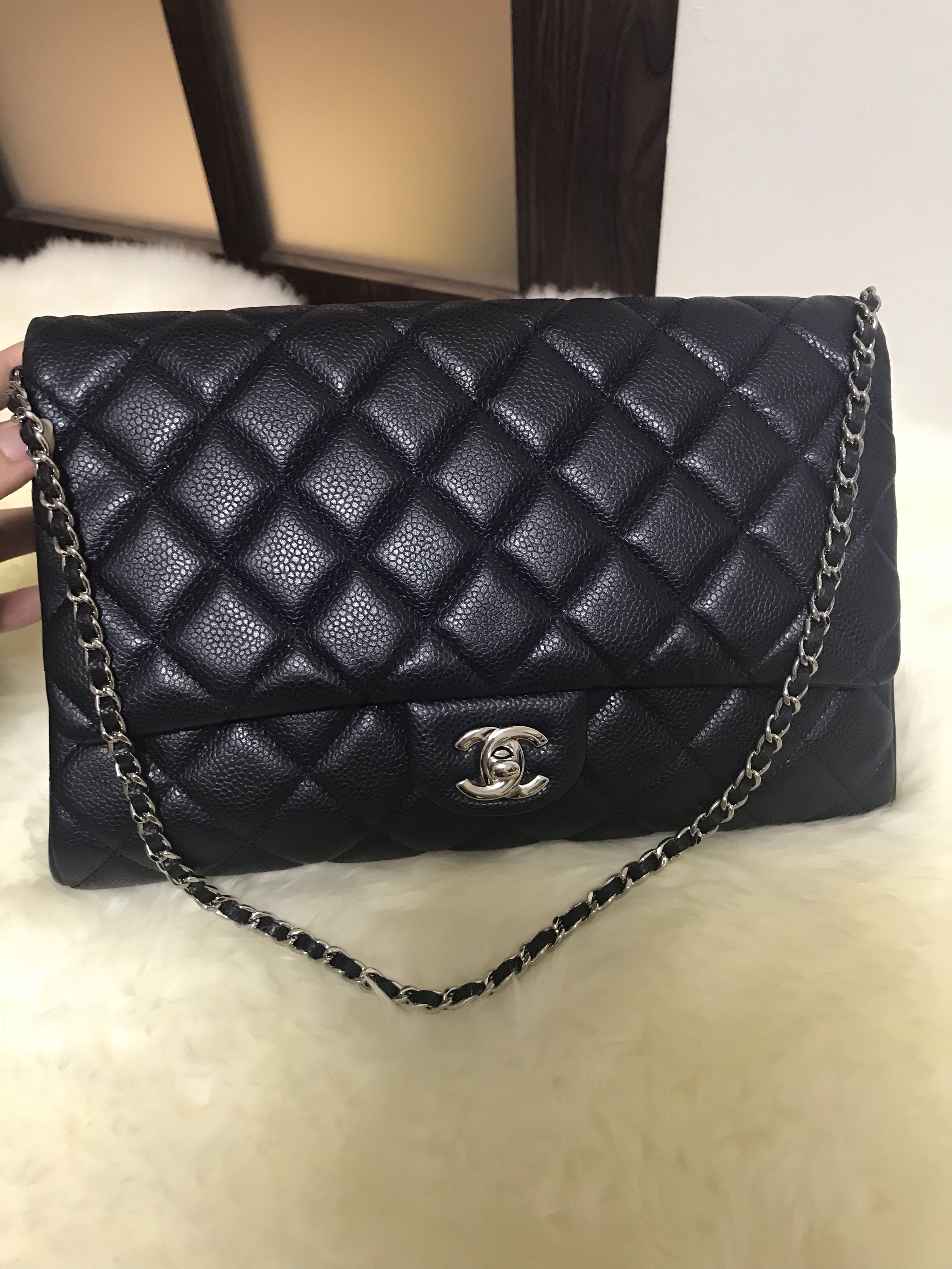 402fef26b32e2e Chanel Timeless Clutch on Chain Caviar Navy With Shw, Luxury, Bags ...
