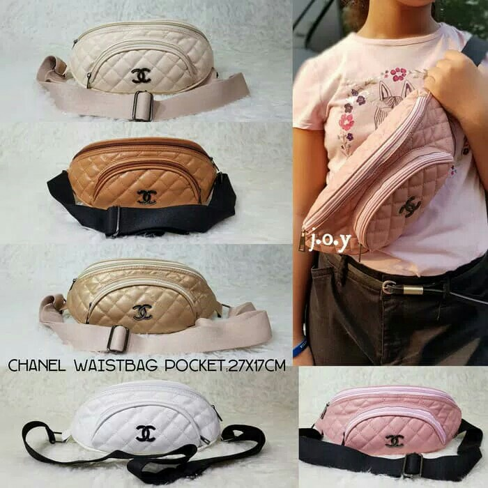 CHANEL WAISTBAG POCKET   WAISTBAG   TAS PINGGANG   TAS SELEMPANG   WAIST  BAG   TAS WAISTBAG   TAS MODERN 659fcdcb14