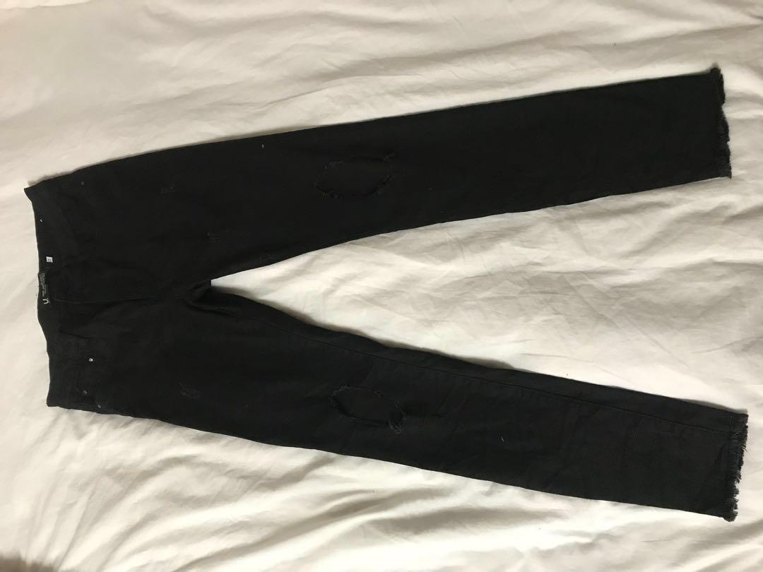 City Beach Ripped Denim Skinny Jeans