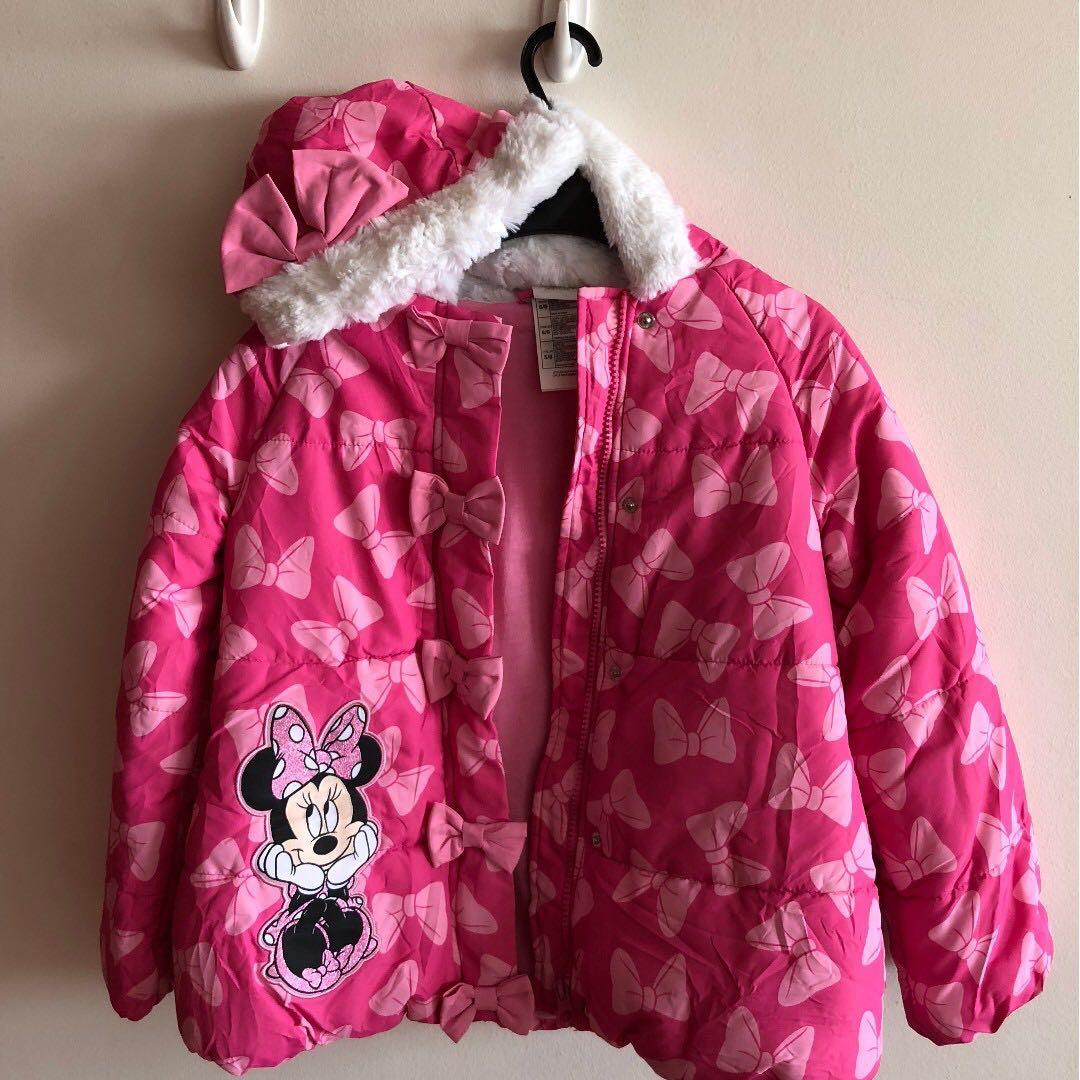 33b09e3e9 Disney.com MINNIE MOUSE Winter Coat & Fleece sweaters Size 3-5 yrs ...