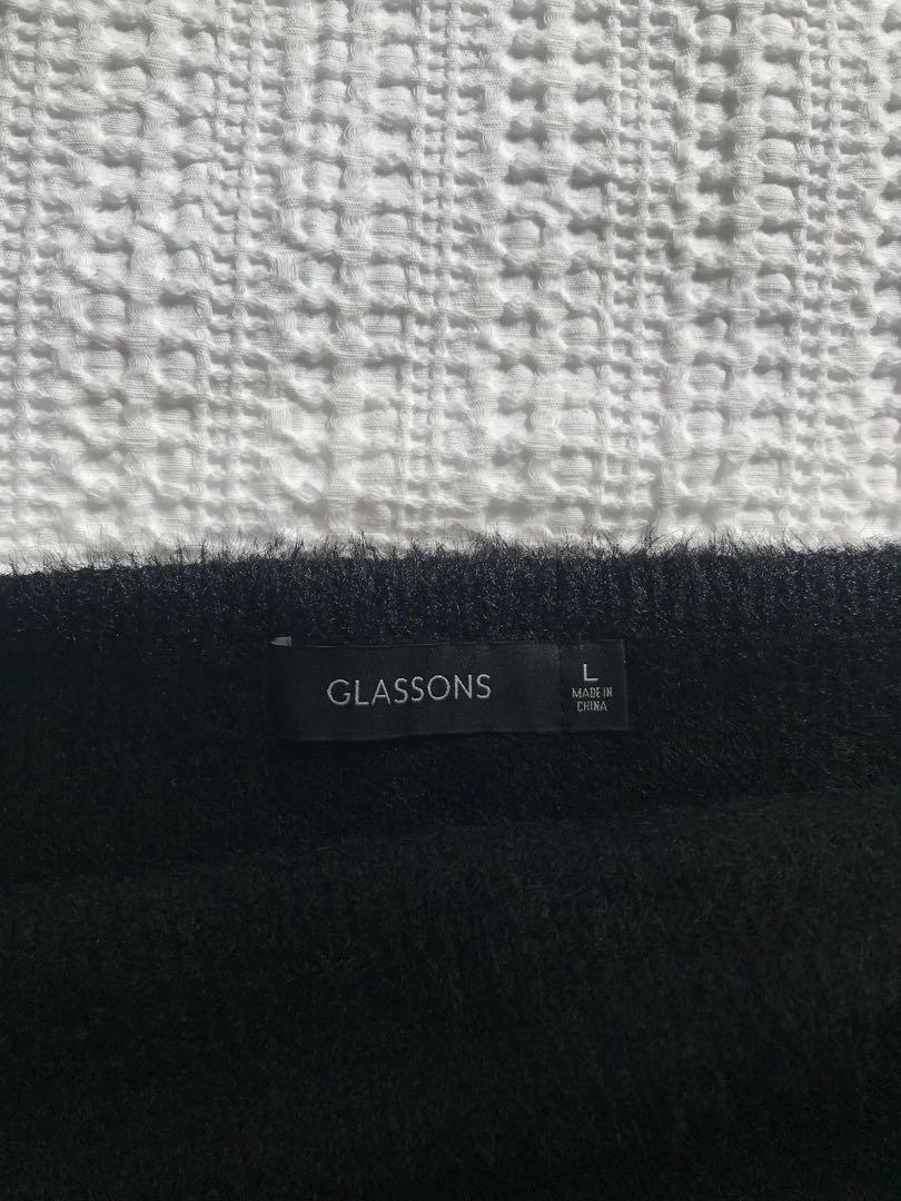 Fluffy knit bandeau