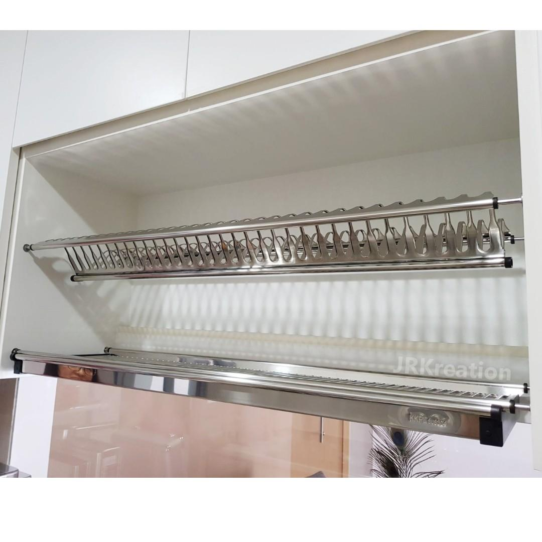 Free Installation Kitchen Cabinet Stainless Steel Dish Rack Furniture Others On Carousell