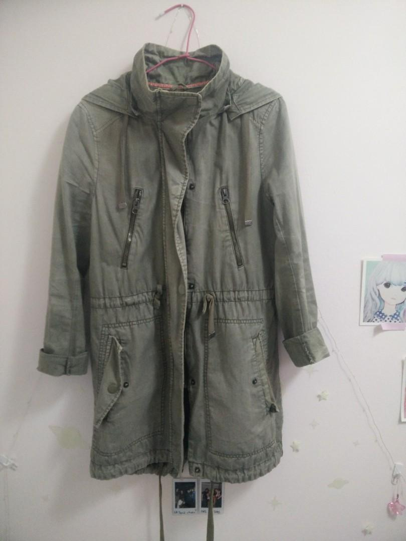 GARAGE Smart Parka Jacket Green SIZE XS