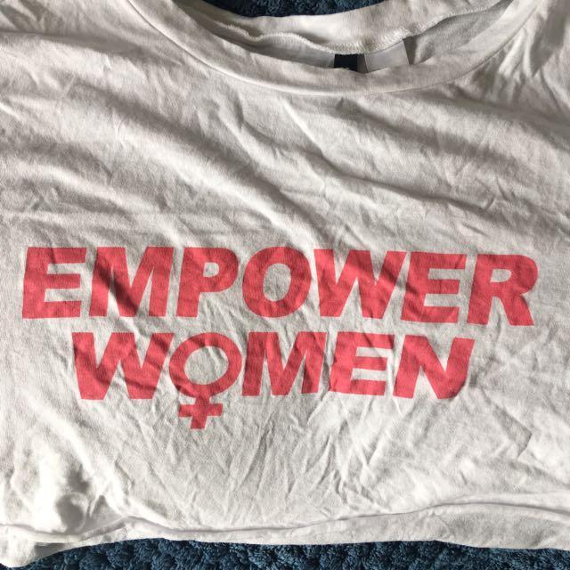 h&m empower woman crop top