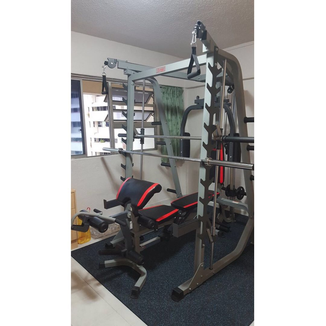 Home gym smith machine sports weights gym equipment on carousell