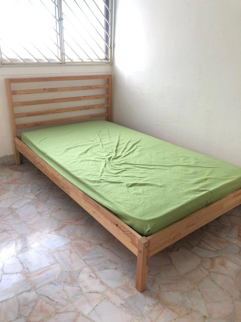 newest 123ad e86c4 IKEA TARVA LUROY Super Single Bed Frame, Furniture, Beds ...