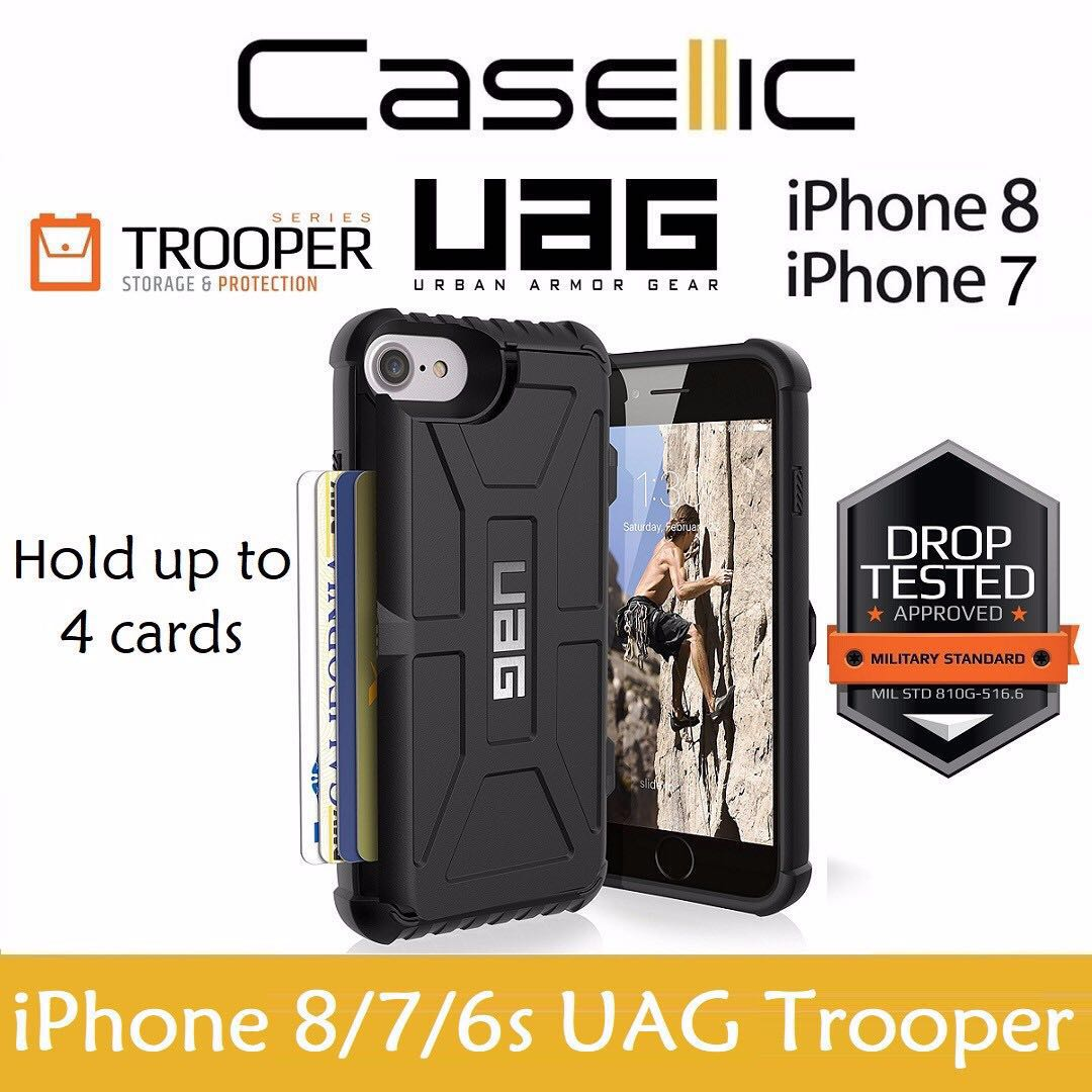 sports shoes 4882c 0ef56 iPhone 8/7/6s UAG Trooper Card Holder Drop Test Case