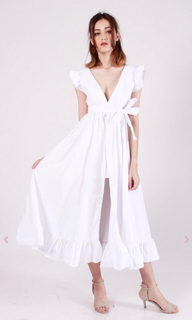 e0857eaea3e Kissablebella princess polly white ruffles dress