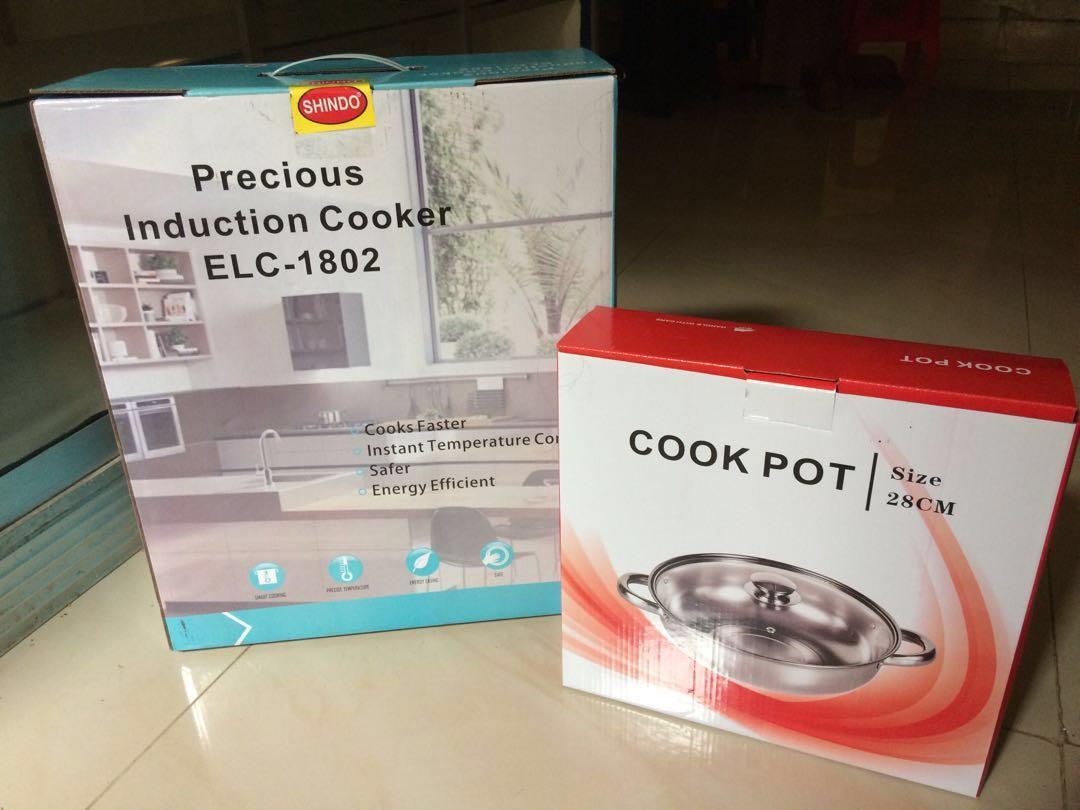 KOMPOR INDUKSI PORTABLE + bonus cooking pot