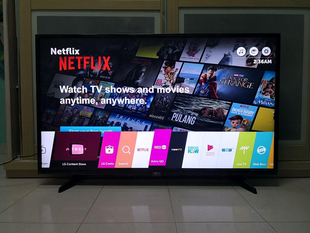 LG 49 UHD 4K HDR Pro Smart Tv