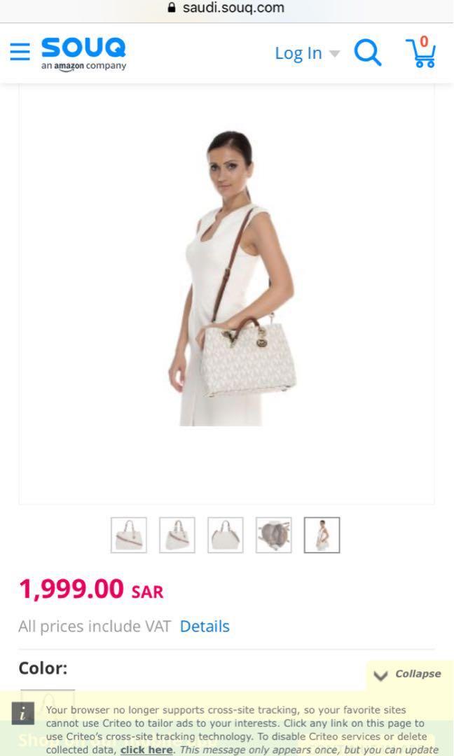 Michael Kors Satchels for Women - PVC, White